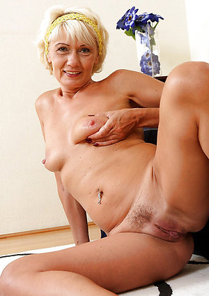 Unexperienced beautiful older women