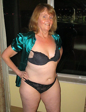 Real erotic hot mature wife in lingerie