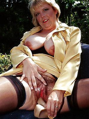 Gorgeous busty mature masturbating