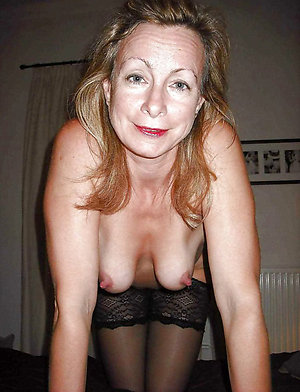 Naked old mature hard nipples