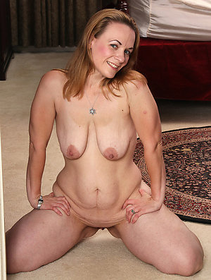 Handsome mature natural nude women