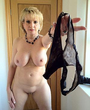 Nude old women wearing sexy panties
