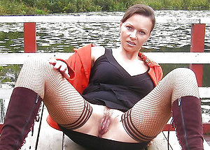 Sweet amateur mature women upskirts