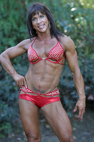 Handsome hot mature muscle women