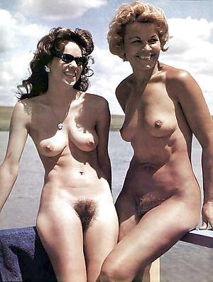 Hairy vintage full-grown nude