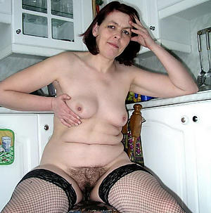 Remarkable unshaved mature pussy