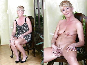Old lady before and after amateur pics