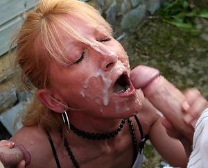 Slutty mature blowjob cumshot nude photos