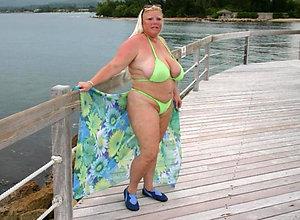 Xxx old lady in bikini