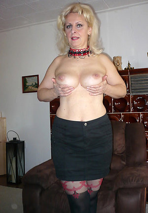 Horny mature blonde mom