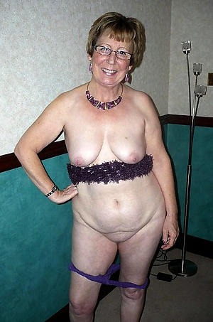 Naughty older mature granny nude photo