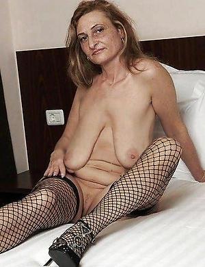 Naked fat saggy mature tits