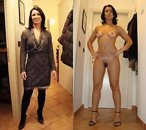 Slutty mature dressed coupled with undressed