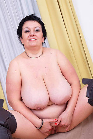 Grown-up women less big tits