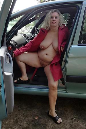 Scant full-grown sex in car photos