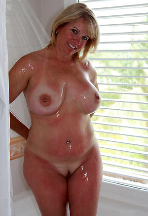 Busty chubby old lady