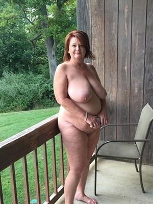 Amateur hairy chubby older women