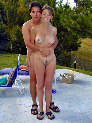 Mature couples showing off