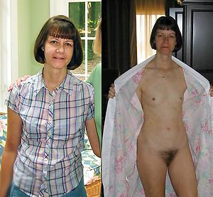 Nude mature before together with after videotape