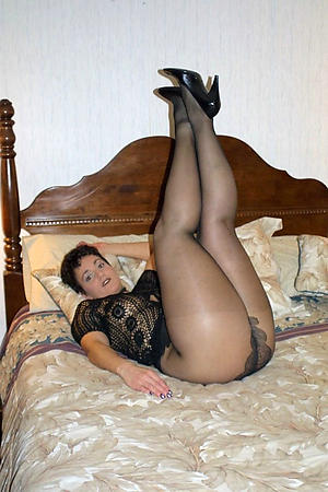 Beautiful matured woman in pantyhose