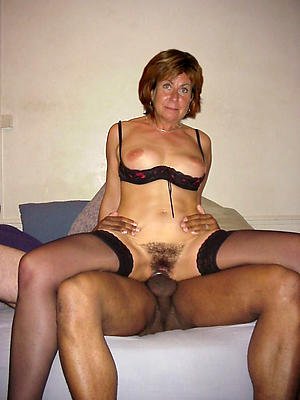 Gorgeous amateur interracial mature