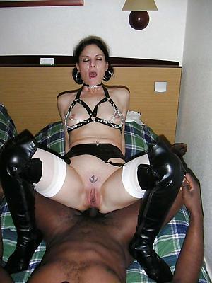 Pretty interracial mature sex