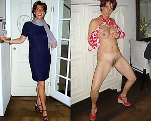 Mature Dressed Undressed