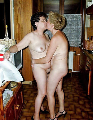 Nude hairy grown-up lesbians