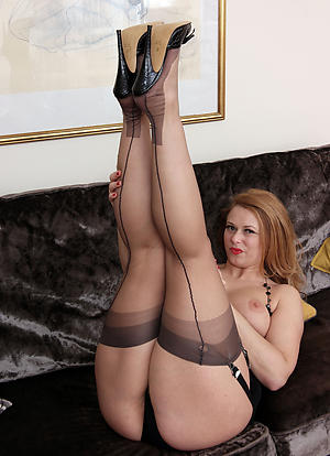 Pulchritudinous mature become man thither stockings