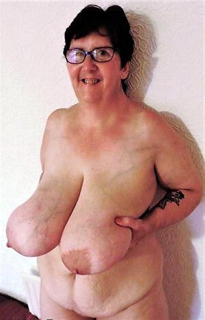 Nude huge saggy tits mature