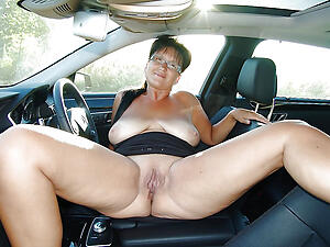Beautiful mature sexy in car