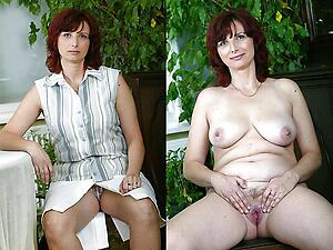 Hot mature before and after