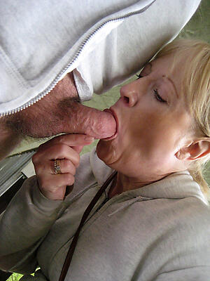 Mediocre pics be expeditious for hot matured blowjob