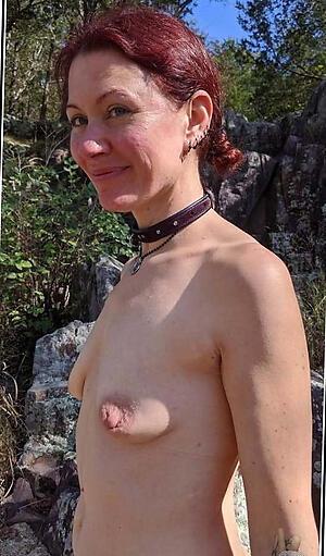 Disobedient big nipples mature nude photo