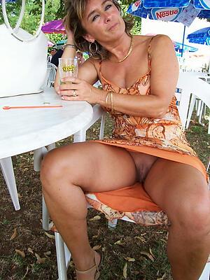 Nude upskirt mature women