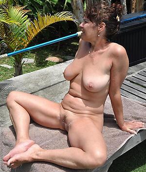 Naughty mature natural breast