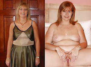 Naughty mature dressed and undressed