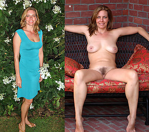 Beautiful mature girls dressed undressed