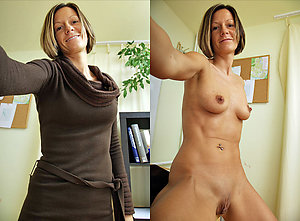 Amateur dressed undressed older wife