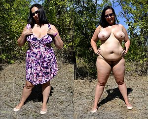 Private old women dressed undressed images