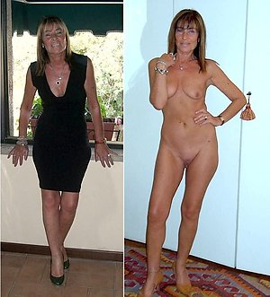 Beautiful old ladies dressed then undressed pics