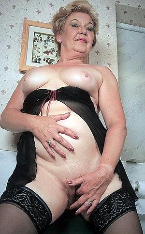 Horny amateur granny masterbation
